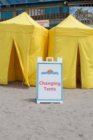 Cocoa Beach Pier Changing Tents for your Convenience & Changing Tents for your Convenience - Picture of Cocoa Beach Pier ...