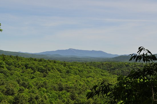 Colchester, VT: A view of Mount Mansfield from within the park