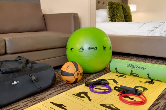 Best Western Plus Peppertree Airport Inn: Calling all fitness fanatics -Self Guided Pilates/Yoga equipment for your room. Ask the front de