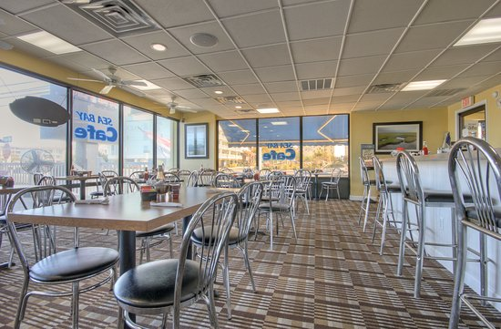 Sea Bay Cafe is located inside the Sea Bay Hotel at the corner of 61st Street.