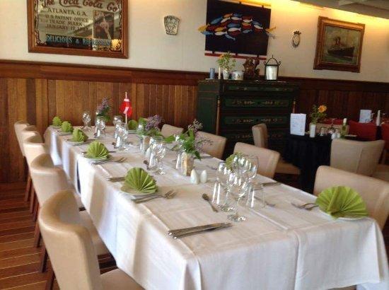 Langeland, Δανία: Vores hyggelige restaurant