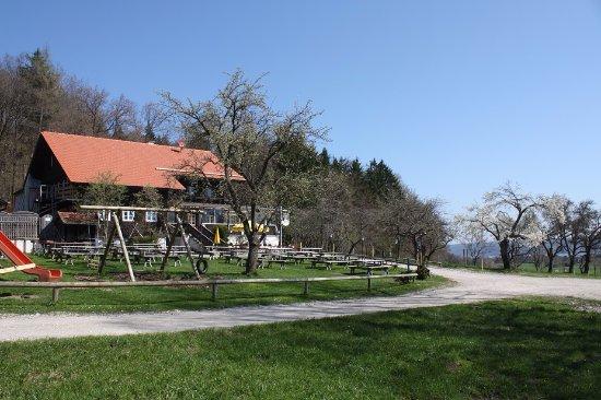 Dießen am Ammersee, Deutschland: die ersten Bäume blühen.