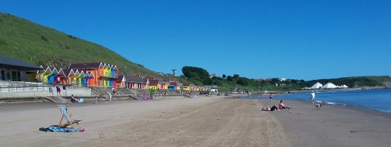The lovely North Sands beach close to The Almar Hotel