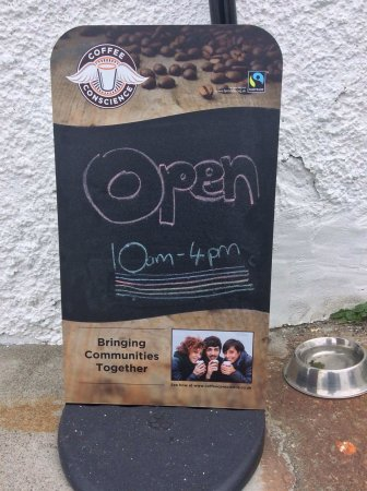 Shawbost, UK: On the Hebridean route, Horshader Cafe is perfect for large tour groups! We're also dog friendly