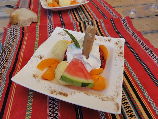 Valcebollere, France: dessert