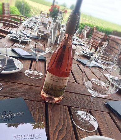 Adelsheim Vineyard: Adelsheim 2016 Willamette Valley Rosé on the outside patio