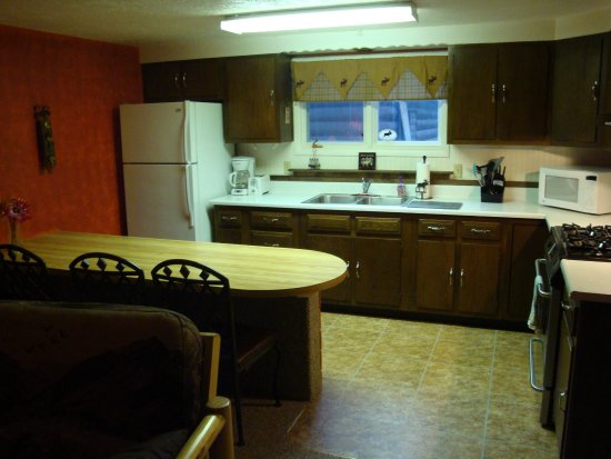 Yellowstone Wildlife Cabins: Moose Cabin kitchen