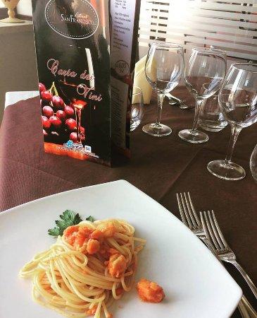 Spezzano della Sila, Italië: Spaghetti al Baccalà