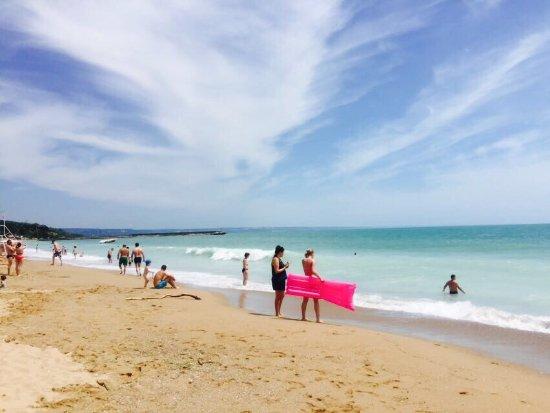 Luna Hotel: Необыкновенное Чёрное море,чистый пляж,отличный вид из номера