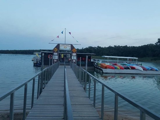 Ardmore, OK: The dock area after our cruise.