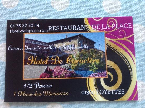 Restaurant De La Place Loyettes