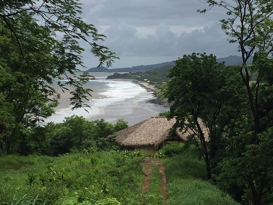 Tola, Nicaragua: View from yoga hut of one of the private beaches.