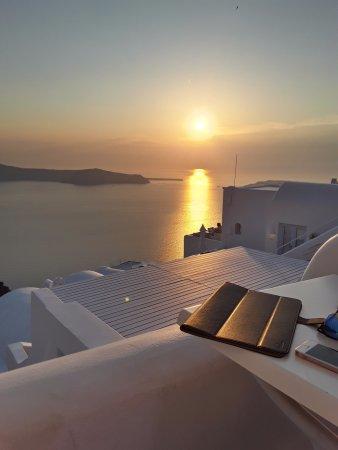 Tholos Resort: Puesta de sol