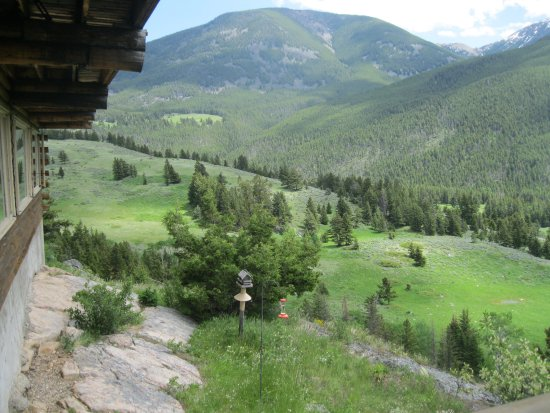 McLeod, MT: View from the lodge