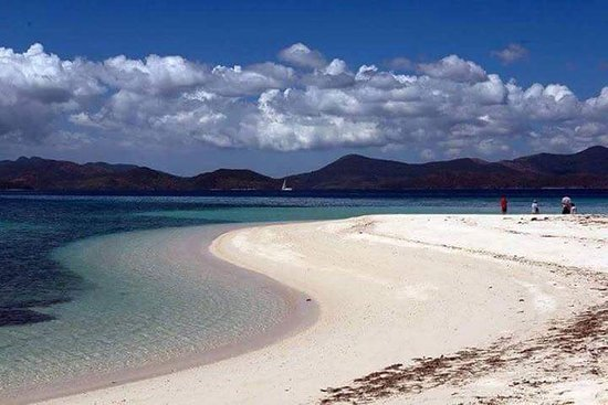 Culion, Filipina: Secluded beautiful beach with blue clean water