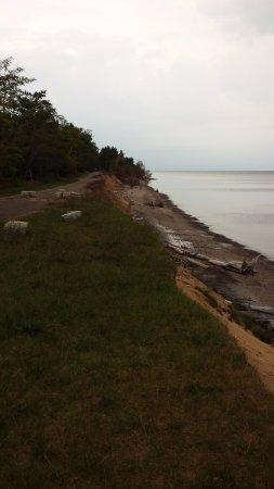 Hancock, MI: road erosion at McLain State Park