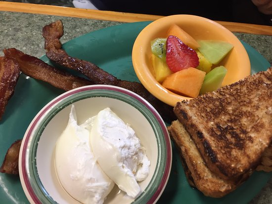 The Villages, FL: Poached and well done bacon