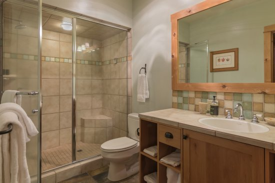 Unit 8 master bathroom with steam shower - Picture of The Lodge at ...