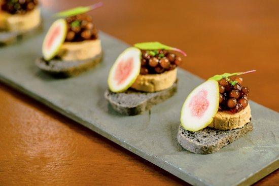 Terrine de foie gras, pane nero, sagu de marsala e figo fresco - Picture of Ristorante ...