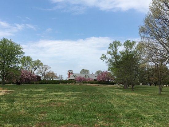 Salem, NJ: View from the meadow towards the building