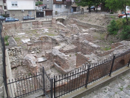 Nessebar Royal Palace: Ancient Roman Bath ruins as seen from the other window in our room