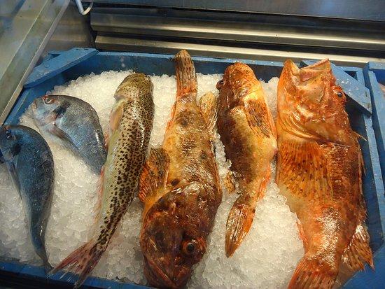 Agios Prokopios, اليونان: Fresh Fish