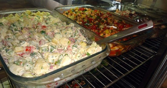 Agios Prokopios, Greece: Our wide variety of salads