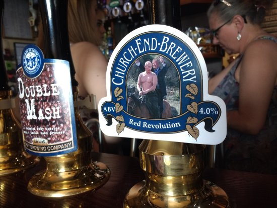 Henlow, UK: Some of the more interesting beers on offer