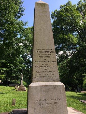 Monticello Tomasza Jeffersona: Jefferson's tomb