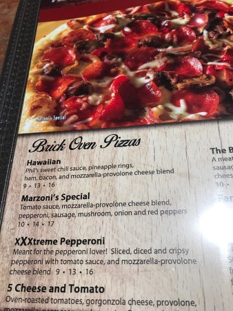 Mechanicsburg, PA: parts of the menu