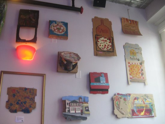 Taste Carolina Gourmet Food Tours: wall at Pompieri Pizza