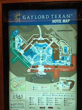 Gaylord Texas Map Map of the resort   Picture of Gaylord Texan Resort & Convention