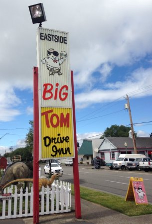 Eastside Big Tom: The Big Tom Drive-In sign out front at the drive thru