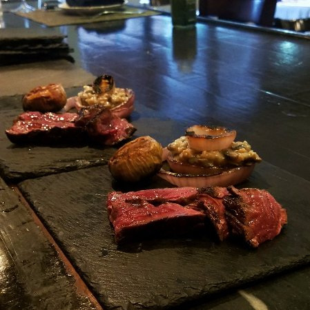 Fort Lee, NJ: Hanger Steak with a side of Risotto