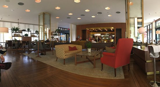 Panorama of the Living Room bar area. - Picture of The Dewberry ...