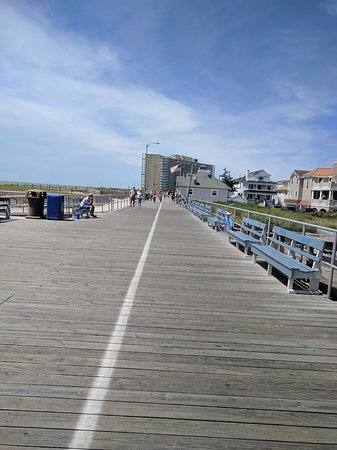 Ocean City Boardwalk: Boardwalk at end