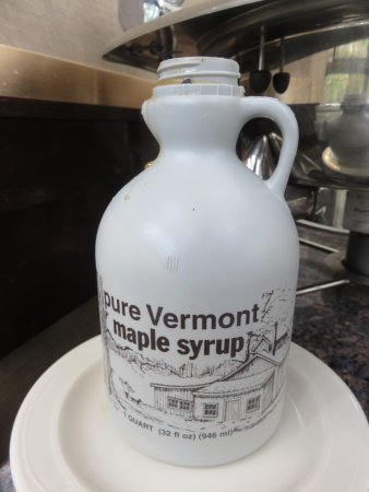 Bridgeton, MO: We couldn't believe this - real maple syrup for breakfast