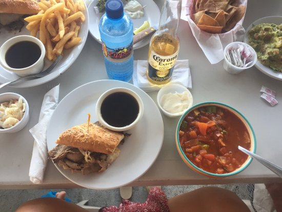 Zipper's: Shared a french dip with my mom (by the way - BEST FRIES) & my tortilla soup