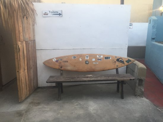 unique surfboard bench by the restrooms picture of zipper s san
