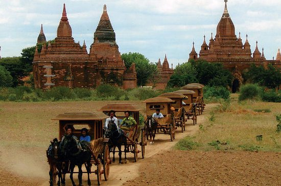 At a glance of Bagan with horse cart...