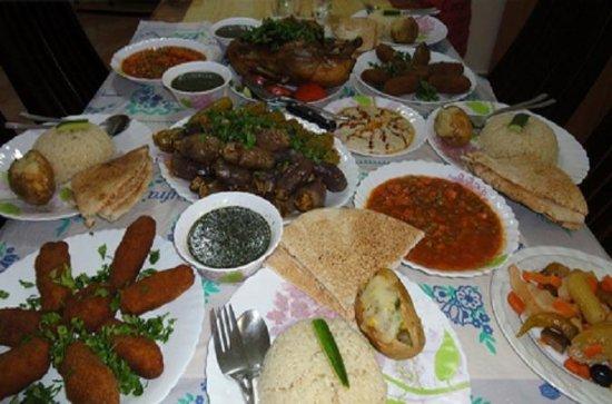 Egyptisk måltid på et lokalt egyptisk...