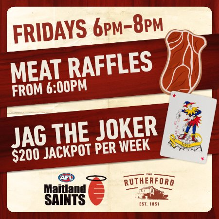 Rutherford, Austrália: Raffles and Jag The Joker