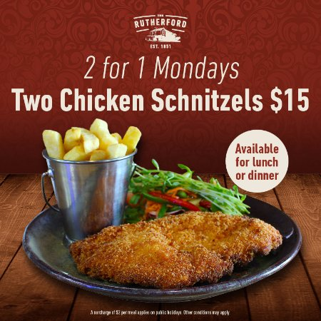 Rutherford, Austrália: Schnitzel Night Every Monday