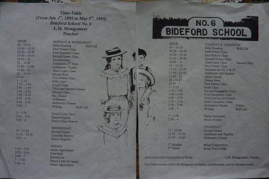Bideford Parsonage Museum : school timetable