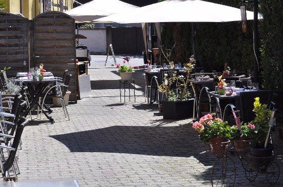 Fegersheim, ฝรั่งเศส: une pause détente, une pause gouramande...