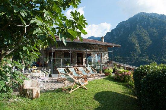 Angolo Terme, Italy: veranda e giardino dell agriturismo serec