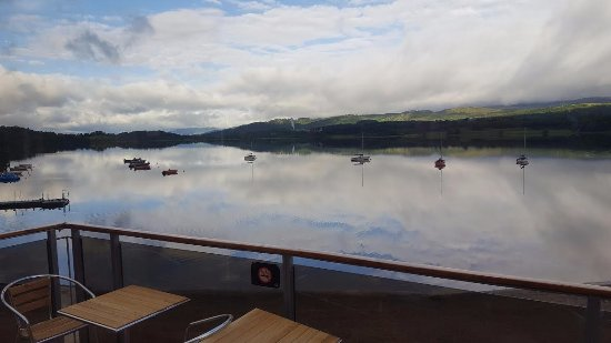 Kincraig, UK : View from our restaurant across the Loch