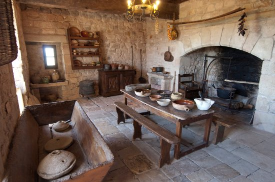 Potager De Cuisine | La Cuisine Du Chateau Avec Son Potager Et Son Petit Four Picture