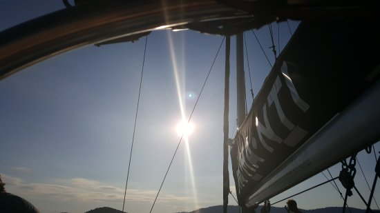 Skiathos Town, Greece: Diamanti sailing in Skiathos