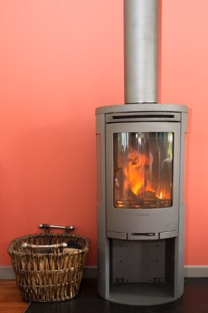 Breage, UK: Woodburner in the Garden Kitchen Cafe